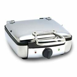 2100046968 99010gt Stainless Steel Belgian Waffle Maker With 7 4-square Silver