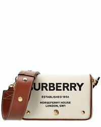 Burberry Small Horseferry Print Canvas amp; Leather Crossbody Women#x27;s White $799.00