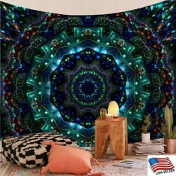 Psychedelic Mandala Tapestry Hippie Rooms Wall Hanging Throw Tapestry Bedspread