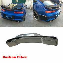 Fit For Chevrolet Camaro Coupe 16-18 Rear Trunk Spoiler Sport Wing Carbon Fiber