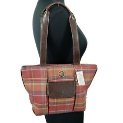 Longaberger Small Plaid Purse With Pockets New With Tag
