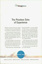 Vintage 1961 Pan Am The Priceless Extra Of Experience Advertisement