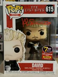Funko Pop Movies The Lost Boys David W/noodles 615 Signed Kiefer Sutherland Coa