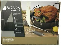 Anolon Roasting Pan Set With Utensils Advanced Hard Anodized Nonstick Roaster