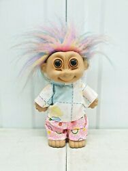 Vintage 80`90` Troll Doll + Clothing On - Collectable Troll Toy | Multicolour