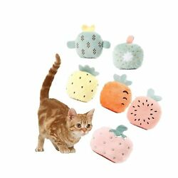 6 Packs Interactive Fruit Shape Catnip Toys for Dog and Cat Cat Crinkle Toys Cat