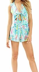 Lilly Pulitzer Greer Romper Beach and Bae Size M Medium $44.00