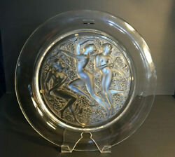 Lalique Clear Hommage A Rene 150th Anniversary Collection 3 Girls Plate