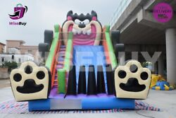 23x14x19ft Commercial Inflatable Dry Slide Bouncer - Free Shipping