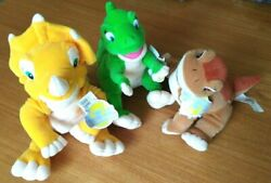 Set 3 Land Before Time Soft Toys Brand New Collectible With Tags