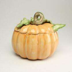 Fitz And Floyd Vintage Pumpkin Soup Tureen With Lid And Ladle
