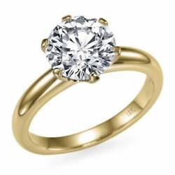 Real 1 Carat Diamond Ring 18k Yellow Gold Solitaire I2 D Msrp 7,200 68451870