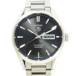 Tag Heuer Carrera Day-date War201a-1 Self-winding Black Dial Menand039swatch