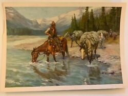 Set Of 4 Vintage Prints By Phillip R. Goodwin 10.5andrdquo X 15andrdquo