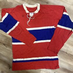 Montreal Canadiens Vintage 60s Winwell Rayon Blend Hockey Jersey Youth Xl