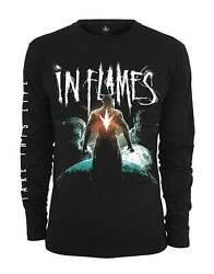 In Flames T Shirt Take This Life Band Logo New Official Mens Black Long Sleeve