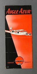 Aigle Azur Airline Timetable July 1953 Issue 6 Boeing 307 Stratoliner France