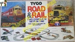 Vintage Tyco Us1 Electric Trucking Road And Rail Slot Car Truck And Train Set 3235