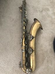 Conn 12m Naked Lady Baritone Sax 1957 681xxx Andlsquodecent Brass Needs Pads