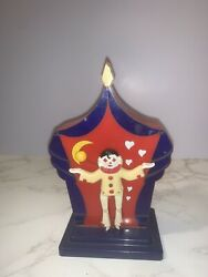 Vtg Dancing Circus Clown Juggling Wind Up Music Box - Selling As Is