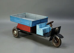 1960 Russian Tin Toy Wind Up Motoroller Tricycle Scooter Vyatka 150 Delivery Car