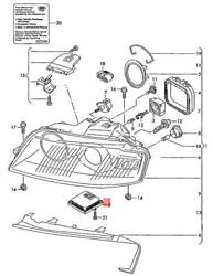 Genuine Audi Control Unit For Gas Discharge Lamp 8e0907391b