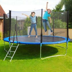 12ft Kids Trampoline With Enclosure Net Jumping Mat And Spring Cover Padding Us