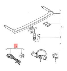 Genuine Installation Kit - Electrical Parts For Trailer Operation 5k7055204