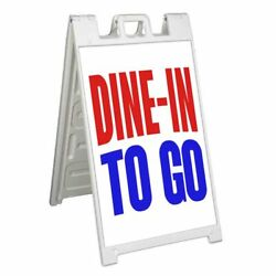 Dine In To Go Signicade 24x36 Aframe Sidewalk Sign Banner Decal Takeout
