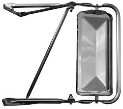 West Coast Stainless Steel Mirror Assembly 80-96 Ford Bronco F150 F250 F350-left
