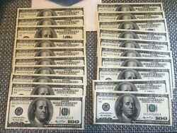 10 Consecutive 100 Bills 2006 Notes Unc Bill Note Money Currency Unique Low Run