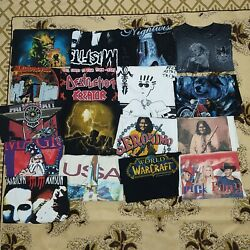 Vintage Music/harley 80s,90s,2000s T Shirt Lot For Resselers