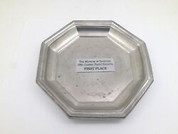 Woodbury Pewter 1991 Trophy Plate The Museum Of Yachting Regatta 1st Place