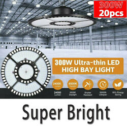 20x 300w Led High Bay Light Commercial Industrial Factory Warehouse Chain Lamp