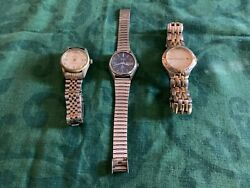 Job Lot Mens Watches Fossil Arsenal Fc, Seiko And Costume For Spares/repair