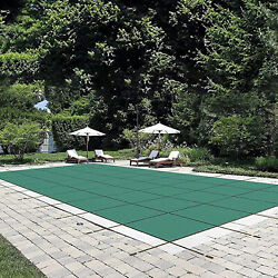 Us Stock Durable Pool Safety Cover Rectangle Inground Winter Swimming Pool Mesh