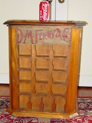 Antique D. M. Ferry Country Store Seed Display Case And Product--------15640