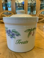 Pfaltzgraff Garden Party Treats Canister Rareandnbsp Pre-owned.