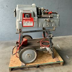 Rigid 535 1/2 To 2and039and039 Pipe Threader Manual Chuck/ Threading Machine W/ Cart 5
