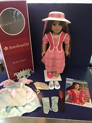 Marie Grace American Girl Doll With Book, Box, Masquerade Dress And Accessories Nm