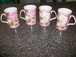 Vintage Royal Albert Old Country Roses Set Of 4 Afternoon Tea Cups