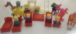 Vintage 1974 Fisher Price Little People Castle Rare Accessories Lot. King, Queen