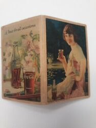 Coca Cola 1924 Sewing Needle Book Vintage Coke Original Piccadilly Woman 20s