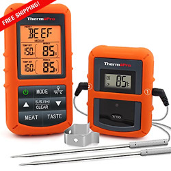 Wireless Remote Digital Cooking Food Meat Thermometer W/dual Probe, Grill Bbq