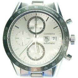 Tag Heuer Carrera Cv2011 Vu9560 Automatic Silver Stainless Round Analog Mens 121