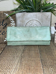 HOBO The Original Sadie Green Leather Trifold Wallet Clutch $39.99
