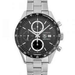 Tag Heuer Carrera Cv2010.ba0786 Automatic Black Silver Stainless Round Men's 131