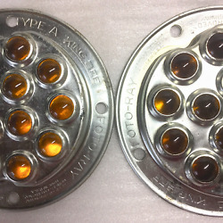 Vintage King Bee Foto-ray Reflectors Type A, Amber Marble In Great Condition