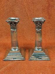 Antique Sterling Silver Hallmarked 1895 Candle Sticks J Charles Jay London Wqz