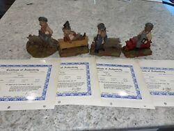 Tom Clark Train Gnomes Set All Signed- Cayce, Hobo, Pullman, Cab